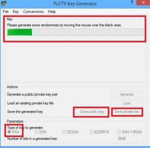 Putty SSH key generator