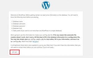 WordPress VPS configuratuon error