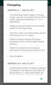 wa tweaks version